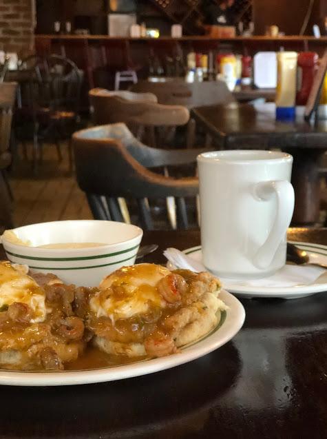Cafe Maspero NOLA Bayou Benedict