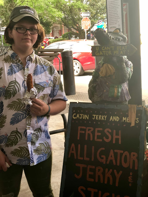 French Market NOLA gator on a stick