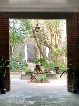 courtyard through porte cocher