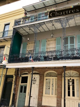 house on Chartres in French Quarter