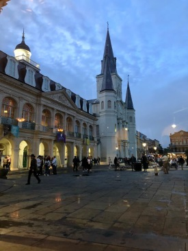 Jackson Square at night